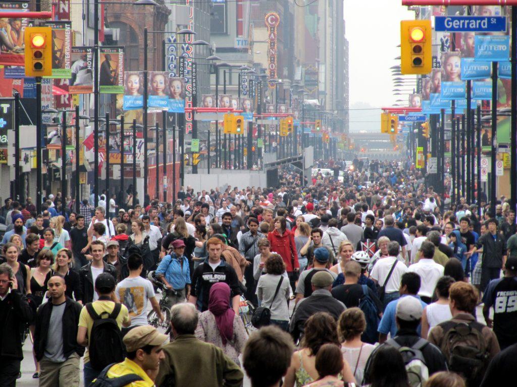 city street crowded