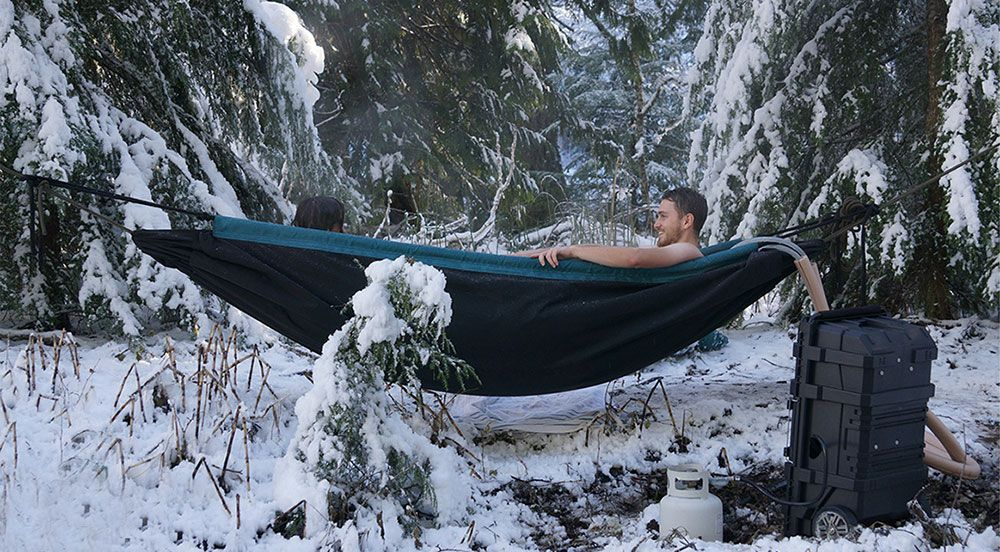 Hammock for Winter - This Hot Tub Hammock Is The Perfect Winter Invention - Toronto Tribune