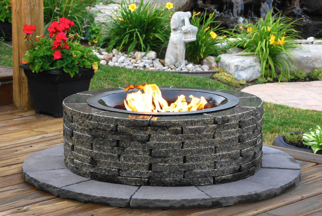 stay warm and cozy with a realstone granite fire pit toronto tribune